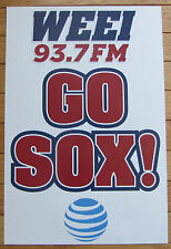 "WEEI 93.7FM K Card Poster ""GO SOX!"" Boston Red Sox AT&T Fourth of July Patriotic"