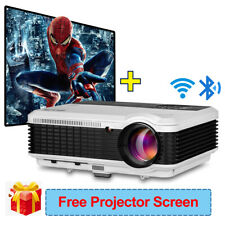 Android WiFi 1080p Projector Blue-tooth 1280*800 App YouTube Tv & 100' Screen