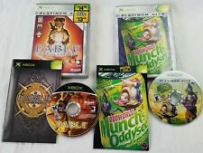 XBOX lot Oddworld: Munch's Oddysee Platinum Hits & FABLE lost chapters complete