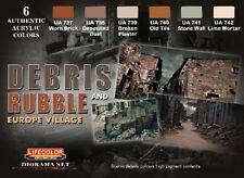 LIFECOLOR Debris Rubble Brick Dust Acrylic Paint Set 6 22ml Bottles FREE SHIP