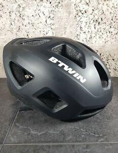 BTwin RoadR 100 Mens Black Cycling Helmet ~ Size 59-62cm Adjustable