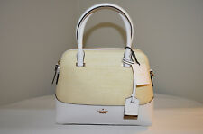 NWT $278 Kate Spade New York Cameron Street Straw Maise Satchel Natural Cement