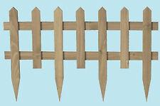 Staccionata steccato bordure recinzione in legno Garden Legno cm 67x2x42 h