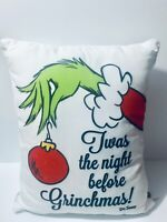 New Dr. Seuss Grinch Who Stole Christmas Pillow Twas The Night Before Grinchmas