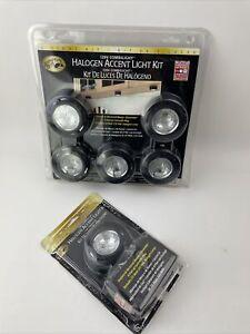 Hampton Bay 120V Combilight Halogen Accent 5-Light Kit Black 154362 NEW Plus 1