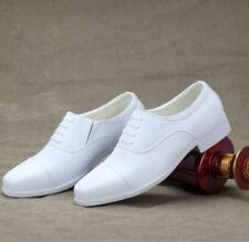 White Men's Formal Low Heel Lace Up Pointed Toe Casual Wedding Shoe Dress