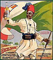 EXCELSIOR vermouth- CHIVASSO-beduino-bandiera-colonia-BANDIERA SABAUDA