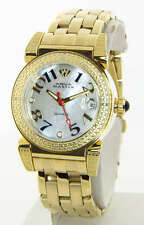 Aqua Master MOP Dial Gold Tone Diamond Womens Watch W88 J 6