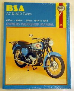 Haynes Reperaturbuch Instruction manual BSA A7 & A10 Twins1947-62 500-650cc