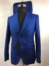 Stefano Ricci Men's Suit Royal Blue Windowpane SR Size 38US  48EU Superb Looks