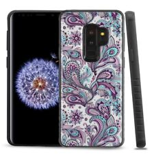 FOR SAMSUNG GALAXY S9 PLUS G965 PURPLE PAISLEY FLOWER IMPACT FUSION CASE COVER
