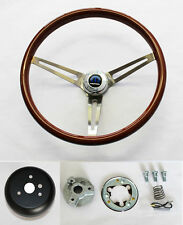 "Dodge Dart Charger Coronet High Gloss Wood Steering Wheel 15"" SS Spokes"
