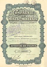 Compagnie de Mines et Minerais SA, accion, 1928 (California, Colorado)