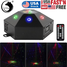 Rgb Projector Laser Patterns Stage Light Dmx Remote Dj Disco Party Show Lighting
