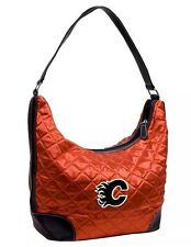 NHL Calgary Flames Team Color Quilted Hobo Purse Bag Red NWT