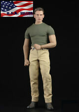 """1/6 Captain America Top Pant Set For 12"""" PHICEN TBL M33 Muscular Figure ❶USA❶"""