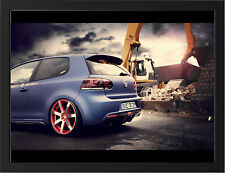 BBM VW GOLF 6 REAR NEW A3 FRAMED PHOTOGRAPHIC PRINT POSTER
