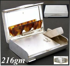Vintage Italian .800 (nearly sterling) Silver Minaudière, Compact, Art Deco