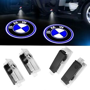 4Pcs LED Lights For BMW Door Welcome Light Logo Courtesy Projector Ghost Shadow