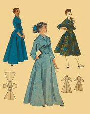 Vintage 1950's Sewing Pattern Housecoat Robe Dressing Gown Bust 32""