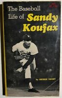 THE BASEBALL LIFE OF SANDY KOUFAX by George Vecsey (1972) Scholastic illust. pb