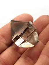 Stunning 36mm NY Herkimer diamond Super Gem-Near flawless-Amber tint-Radiant