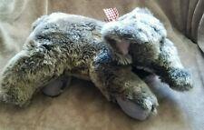 "Dan Dee Dandee Collector's Choice Fuzzy Plush Stuffed Elephant Gray Pink 15"""
