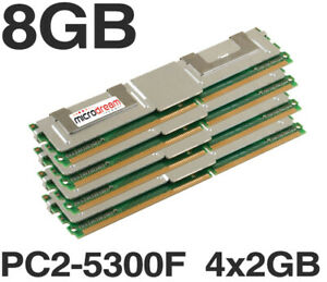 8GB (4x2GB) DDR2 PC2-5300F 2Rx4 667MHz ECC Fully Buffered Server Memory Ram