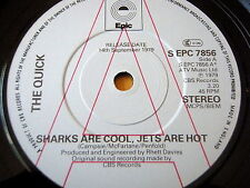 """THE QUICK - SHARKS ARE COOL, JETS ARE HOT  7"""" VINYL PROMO"""