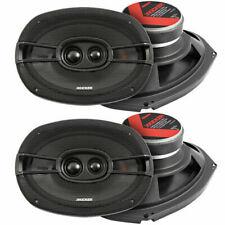 KICKER 44KSC69304 6x9 in. 600 Watt 3-way Car Audio Speakers one pair