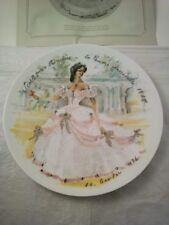 "Limoges Collector Plate ""Scarlett en Crinoline - la Femme inaccessible 1865"