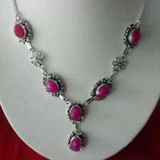 """Less than 13"""" Oval Ruby Fine Necklaces & Pendants"""