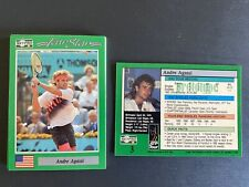 (10) ANDRE AGASSI 1991 NETPRO PROTOTYPE-PROMO TENNIS RC CARDS