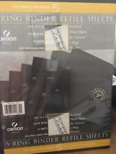 """New listing Canson 5 Ring Binder Refill Sheets 15 Pack Black 12"""" x 12"""" Free Shipping New"""
