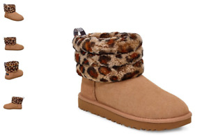 UGG Fluff Mini Quilted Leopard Amphora Boot Women's US sizes 5-11 NEW!!!