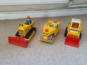 Playmobil Vintage Construction Bundle,  Bulldozer,  Road Roller And Digger