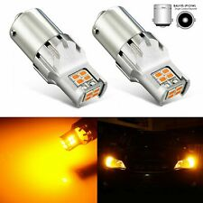 2x Amber Yellow 1156PY BAU15S High Power 3020 SMD Turn Signal LED Light Bulbs