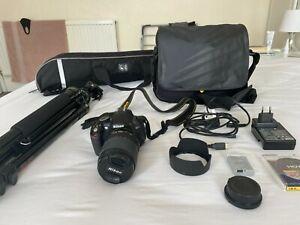 Nikon D3100 Camera, AF-S NIKORR 18-105mm LENS + ACCESSORIES