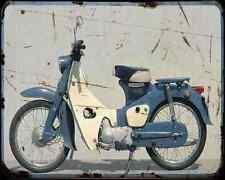Honda C102 Cub 60 01 A4 metal sign moto Vintage Aged