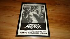 ANTHRAX spreading the disease-framed original press release promo advert