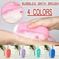 Silicone Bath Shower Brush Body Scrubber Massage Brush Washing Bathroom G4N8