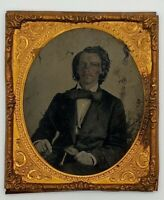1840's Texas Republic Prominent Young Man Daguerreotype Photograph