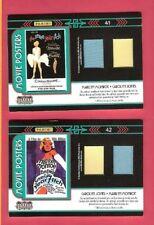 MARILYN MONROE CAROLYN JONES 2 WORN 2 RELIC SWATCH CARDS AMERICANA MOVIE POSTERS