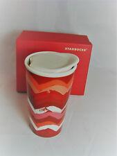 2014 STARBUCKS Chevron Travel Tumbler Mug 10 oz Tall Ceramic Double NIB