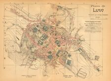 LUGO. Plano antiguo de la cuidad. Antique town/city plan. MARTIN c1911 old map