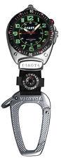 New Dakota Watch Big Face Clip with Black Aluminum Cobra Clip Carabiner
