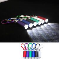 1*LED Flashlight Torch Light Extend Keychain Outdoor Travel Camping Tool