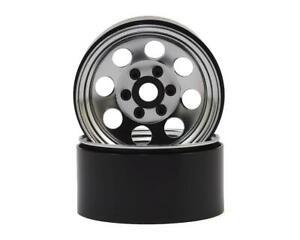 "SSD RC 8 Hole 1.9"" Steel Beadlock Wheels (Chrome) [SSD00270]"
