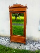 Antique French Armoire,  Small Pine Wardrobe