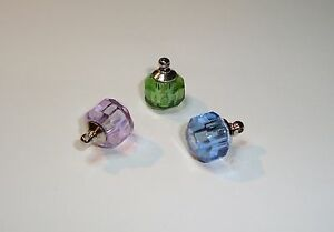 Crystal Genie bottle or diamond shape vial Cremation locket Ashes-Name on Rice